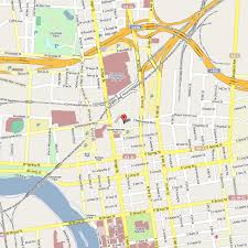 map of columbus map of downtown columbus ohio my