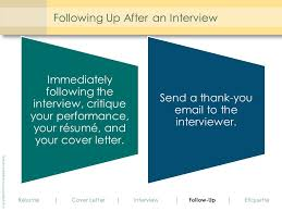 follow up email after resume submission employment communication ppt download