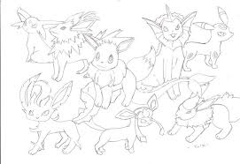 pokemon eevee evolutions coloring pages backgrounds coloring