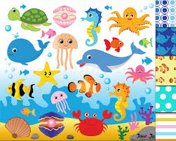 cute clipart sea creature pencil and in color cute clipart sea