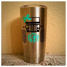 jeep stickers for girls jeep and monogram decal for yeti rtic rambler