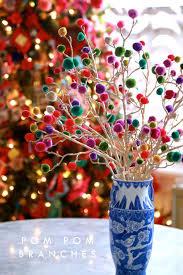 craft lightning christmas pom pom branches christmas tree