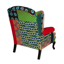 Next Armchair Buy Desigual Patchwork Armchair Green Amara