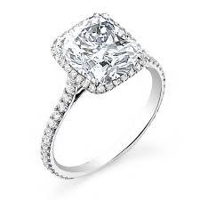 Cushion Cut Halo Diamond Engagement Ring In Platinum 11 Best Cushion Cut Engagement Rings Images On Pinterest Cushion