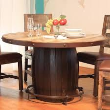 Artisan Home  Antique Round Dining Table With Barrell Base And - Artisan home furniture