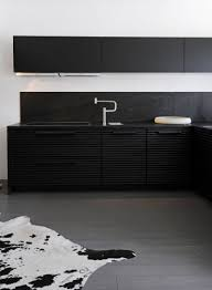 kitchen style contemporary kitchen interior black and white