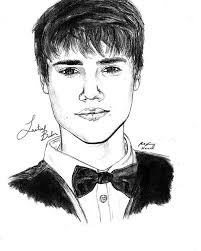 justin bieber suit drawing poster by kenal louis