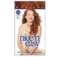 clairol nice n easy natural light auburn clairol nice n easy permanent hair color natural light auburn 110