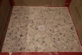bathroom shower floor ideas pebble shower floor design ideas impressive white tile 12