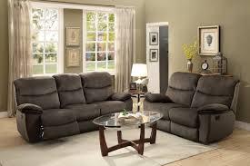 Reclining Living Room Furniture Sets Homelegance Palila Reclining Sofa Set Polyester Chocolate 8333