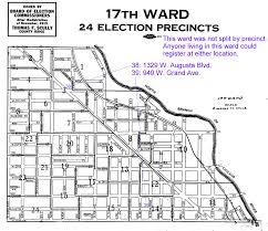 Chicago Ward Map Chicago Ward Map Circa 1917