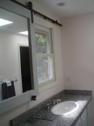electrical backlight moving mirror in bathroom home