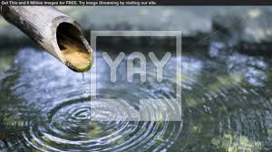 royalty free image of japanese bamboo water fountain large bamboo