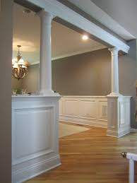 half wall with columns bolton ct decor ideas pinterest