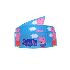 peppa pig ribbon 22mm peppa pig logo grosgrain ribbon gift wrapping ribbon the