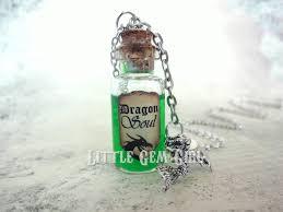 glass bottle necklace images Little gem girl dragon soul mini glass bottle necklace jpeg