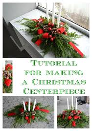 how to make a christmas floral table centerpiece diy evergreen christmas centerpiece celebrate decorate