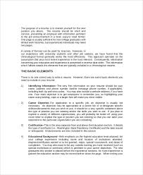 Job Objective Examples For Resume by Sample Resume Objective Statement 7 Documents In Pdf Word