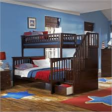 Bunk Bed Mattress Size Atlantic Furniture Columbia Twin Over Full Bunk Bed In Antique