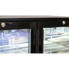 glass door bar fridge commercial double door bar fridge with energy saving parts