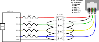 github kevinferrare arduino st4 a pc telescope interface built