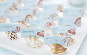 beachy wedding favors shell themed wedding favors simple brown classic white