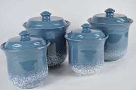 Martha Stewart Kitchen Canisters Blue Kitchen Canister Sets Kenangorgun Com