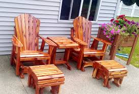 furniture red cedar wood affordable patio furniture set of 2