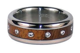 diamond wood rings images Hawaiian koa wood diamond and rose gold ring jpg