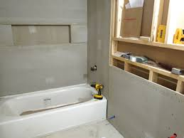 drywall and cement board for the downstairs bathroom blog