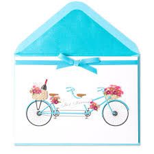 just married cards just married tandem bike wedding cards papyrus