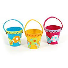 wholesale easter buckets floral felt bulk wholesale easter baskets easter