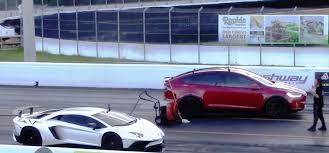 lamborghini aventador race wordlesstech tesla model x p100d vs lamborghini aventador sv