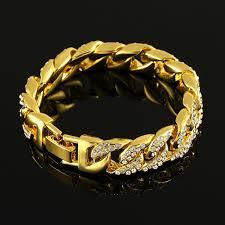 luxury bracelet gold chains images 2018 full diamond bracelets mens hip hop jewelry gold plated jpg