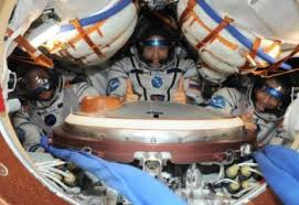 soyuz ms 06 arrives with three more crewmembers for the iss