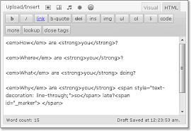 Text Decoration Html Html Basics In Wordpress Wordpress In Depth Using Html In Your