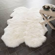 White Fur Area Rug Outstanding Fur Area Rugs Roselawnlutheran Intended For White Rug