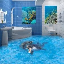 3d bathroom flooring i gasped when i saw his bathroom had flooded but then i looked