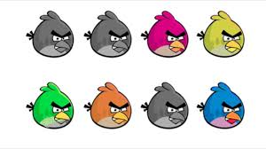 angry birds coloring pages for learning colors find the purple