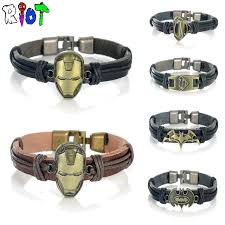 leather bracelet with buckle images 10 types leather bracelets classic marvel dc movie series iron man jpg