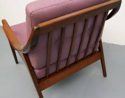 Purple Armchair Scandinavian Purple Armchair In Dark Wood 1950s Design Market