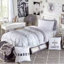 Twin White Comforter Printed Kiss Pleat Premium Twin Xl Comforter Dorm Bedding And