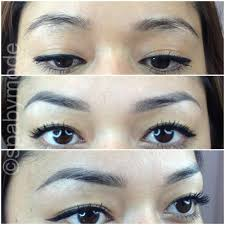 eyebrows soft touch permanent makeup before top and 6 weeks