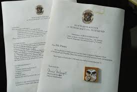 why are you blue harry potter acceptance letter from harry