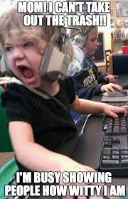 Meme Gamer - angry little girl gamer meme generator imgflip