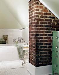 Rustic Bathroom Walls - 20 dashingly contemporary bathroom designs with exposed brick