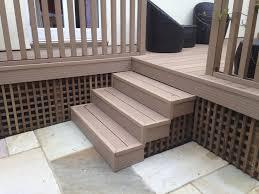 composite deck stairs radnor decoration