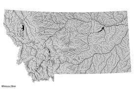 Highly Detailed River Map Of by Highly Detailed Montana River Map Montana