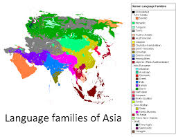 map of countries of asia languages of asia