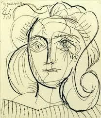 pablo picasso head of a woman françoise gilot 1945